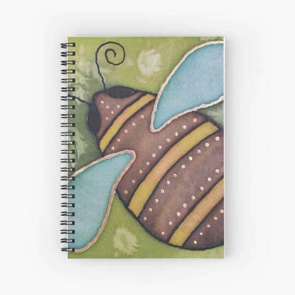 Bee 1 - a little silk painting Spiral Notebook