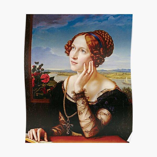 Wilhelmine Begas, the Artist's Wife - Carl Joseph Begas Poster