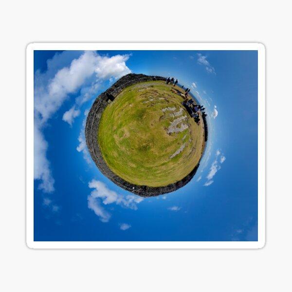 Fortified Ball - Inside Dun Aengus stone fort Sticker