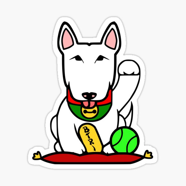 Maneki-Buruteria - Lucky Bull Terrier Sticker