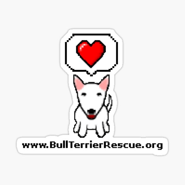 8-Bit Bull Terrier Rescue Sticker