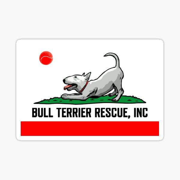 Bull Terrier Rescue, Inc. California Flag Sticker