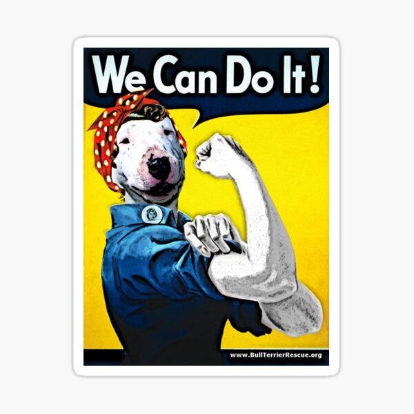 Lucy the Riveter - We Can Do It! Sticker