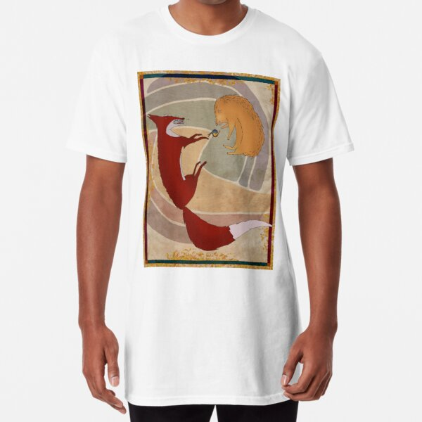 Fox and Hedgehog, Play-Fighting or Serious? Long T-Shirt