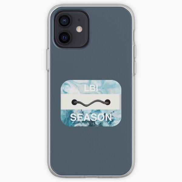 Long Beach Island Beach Badge iPhone Soft Case