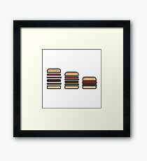 BURGERS ICON Framed Print