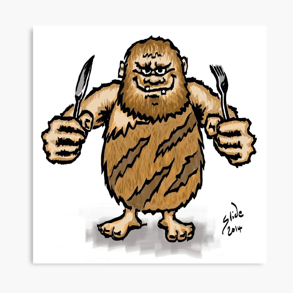Caveman Diet, 2014 Canvas Print