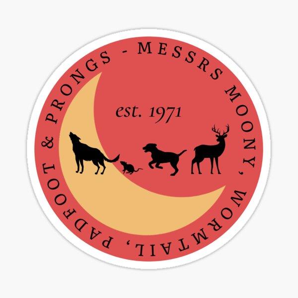 maraudeurs messrs moony, wormtail, padfoot et griffes Sticker