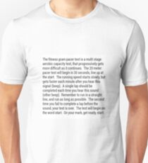 Fitness Gram Pacer Test T-Shirt