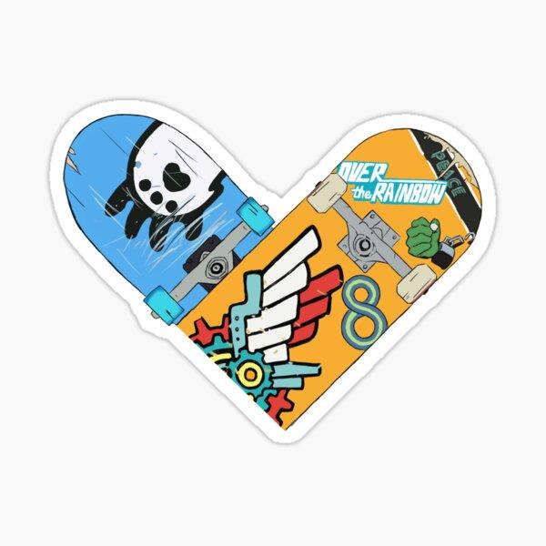 Renga Skateboard Heart 1 Sticker