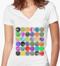 36 Textures Women's Fitted V-Neck T-Shirt