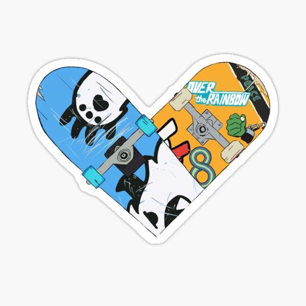 Renga Skateboard Heart 2 Sticker