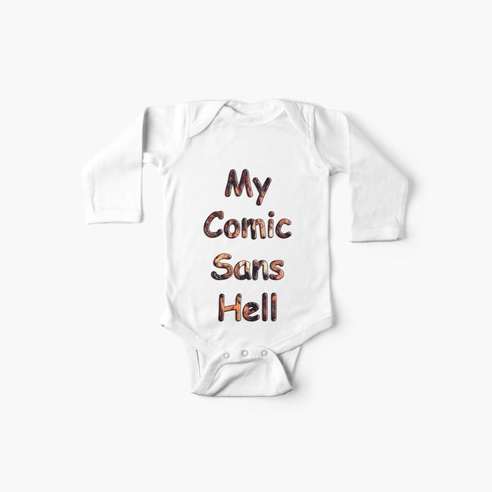 My Comic Sans Hell, 2014 Baby One-Piece