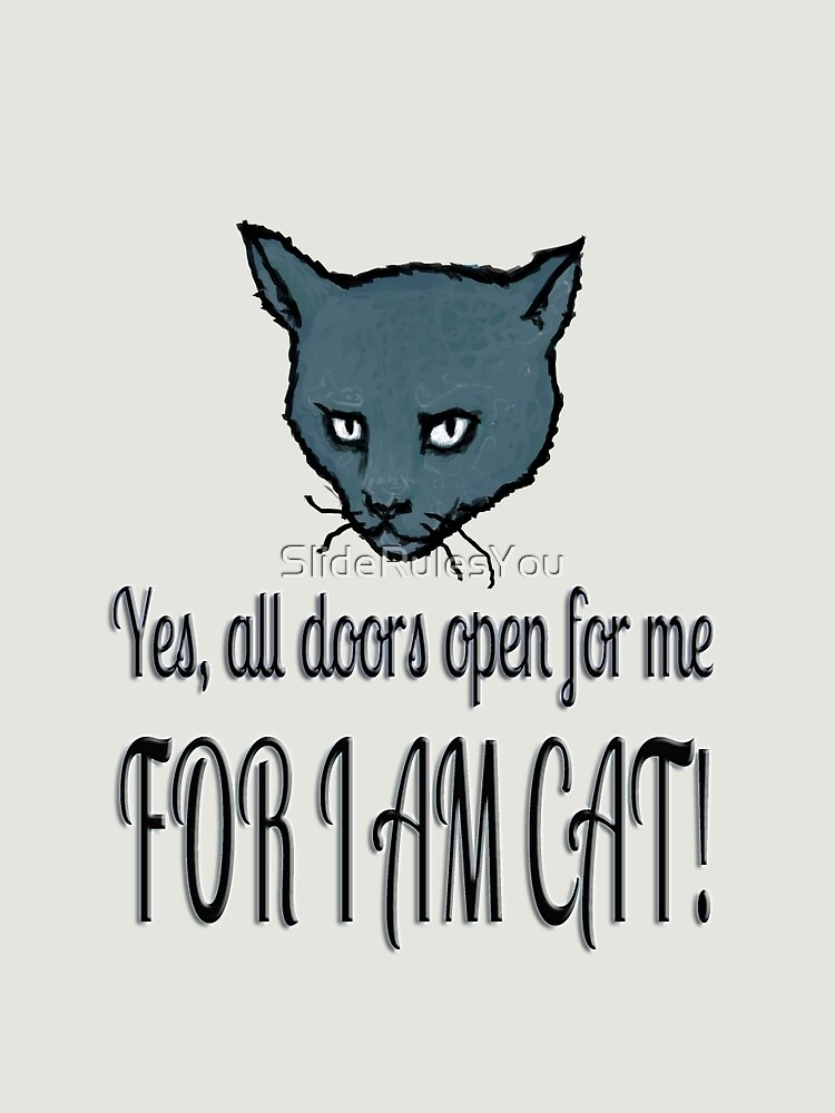 Yes, all doors open for me, FOR I AM CAT! by SlideRulesYou