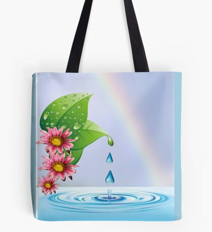 Water droplets (6432  Views) Tote Bag