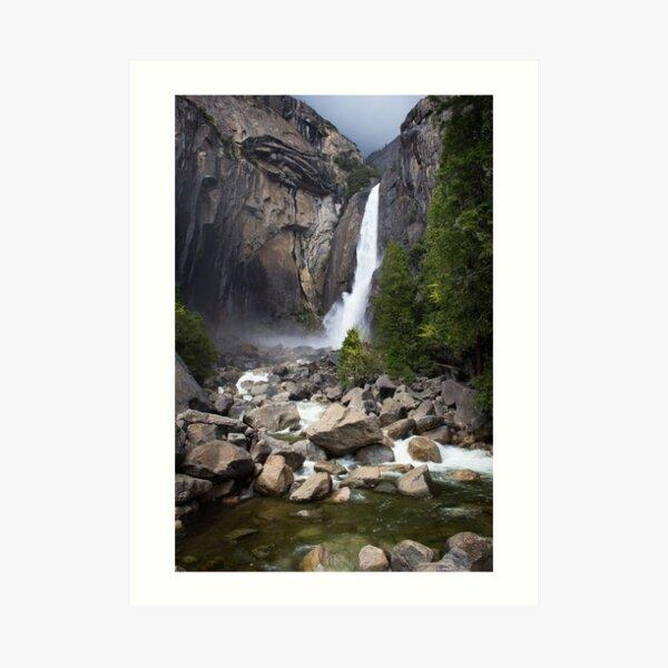 Falling Water - Lower Yosemite Falls Art Print