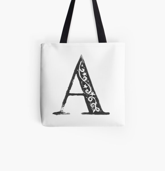 Serif Stamp Type - Letter A All Over Print Tote Bag