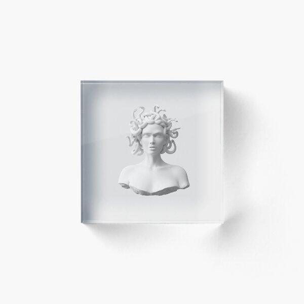 Marble Medusa Bust Acrylic Block