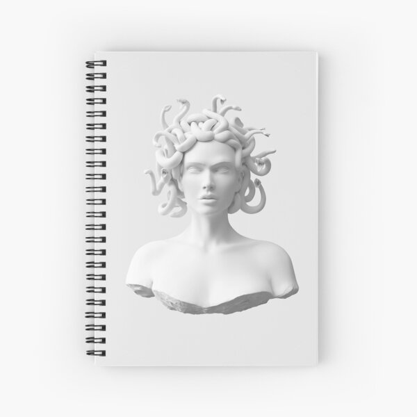 Marble Medusa Bust Spiral Notebook