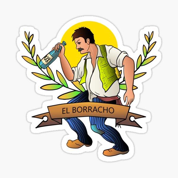 El Borracho Pegatina