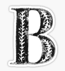 Serif Stamp Type - Letter B Sticker