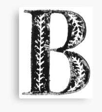 Serif Stamp Type - Letter B Canvas Print