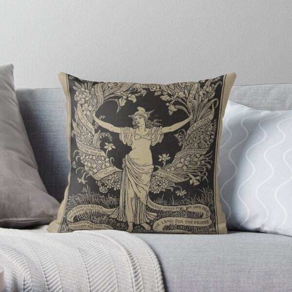 A Garland for May-Day Throw Pillow