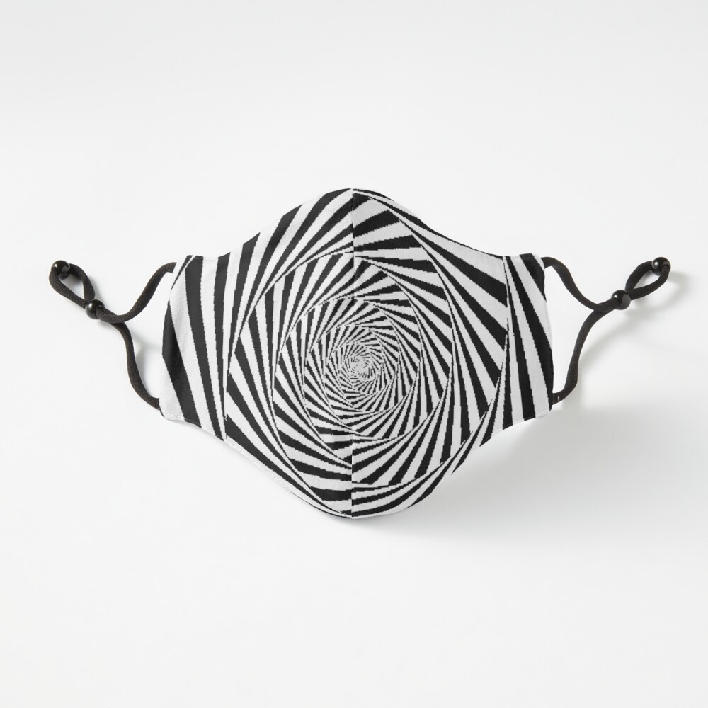 Optical Illusion Beige Swirl,  ur,fitted_mask_flatlay_fitted_regular,square,1000x1000