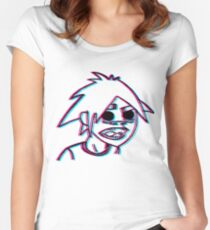 2-D in 3-D Women's Fitted Scoop T-Shirt