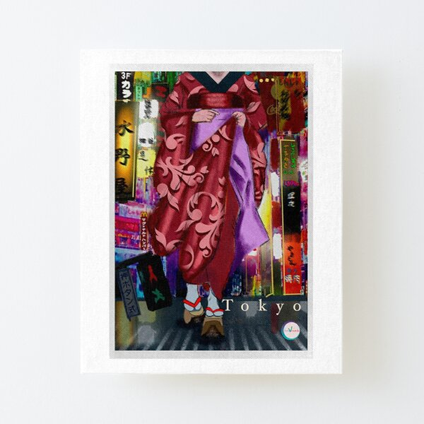 Heels in the city Canvas Mounted Print