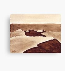 Coffee Desert Canvas Print