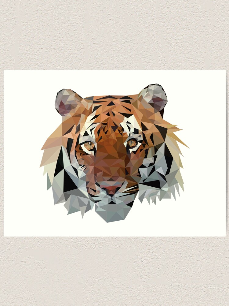 Alternate view of Geometric Tiger Art Print