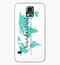 Wanderlust (n) Teal Watercolor World Map Case/Skin for Samsung Galaxy