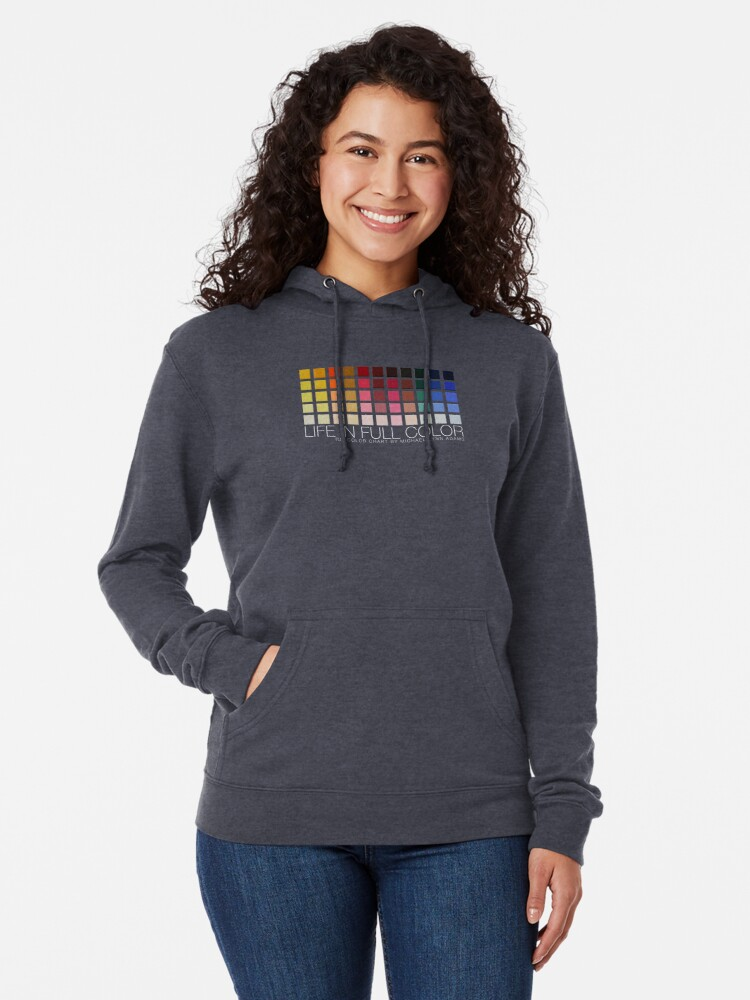 Alternate view of LIFE IN FULL COLOR Lightweight Hoodie