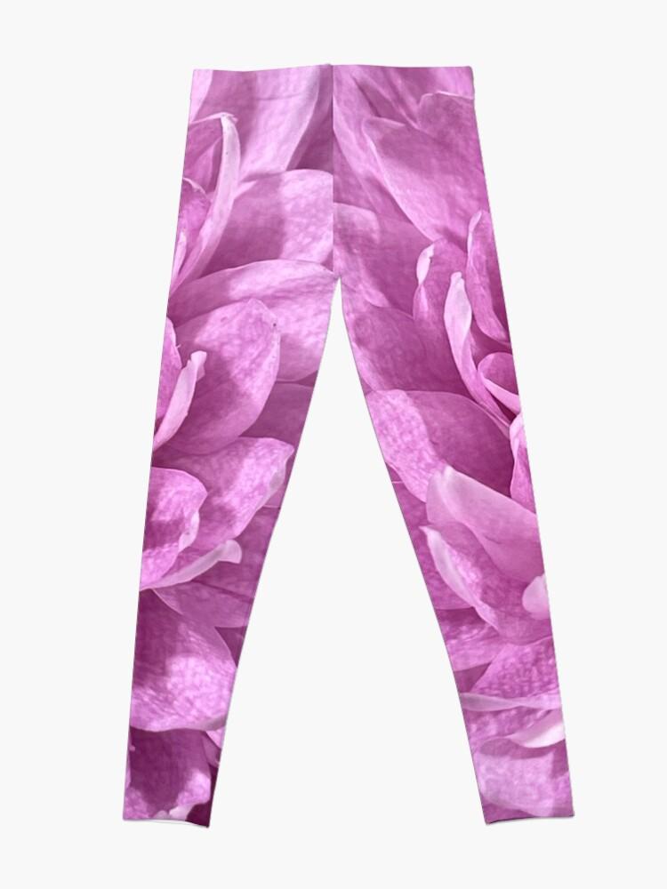 Alternate view of Pink Flower Closeup Leggings