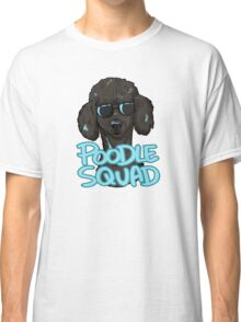 BLACK POODLE SQUAD (in blue) Classic T-Shirt