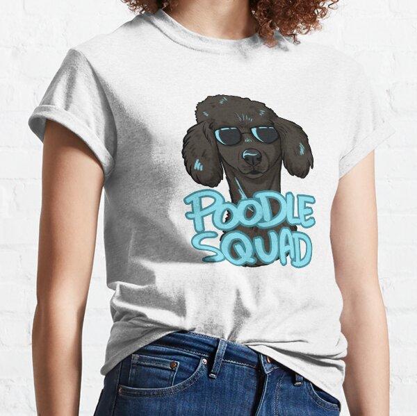 BLACK POODLE SQUAD (in blue) Classic T-Shirt