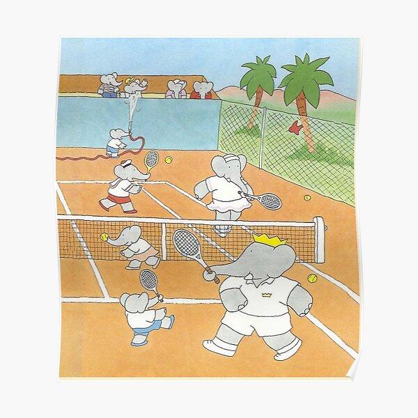 Babar jouant au tennis 2 Poster