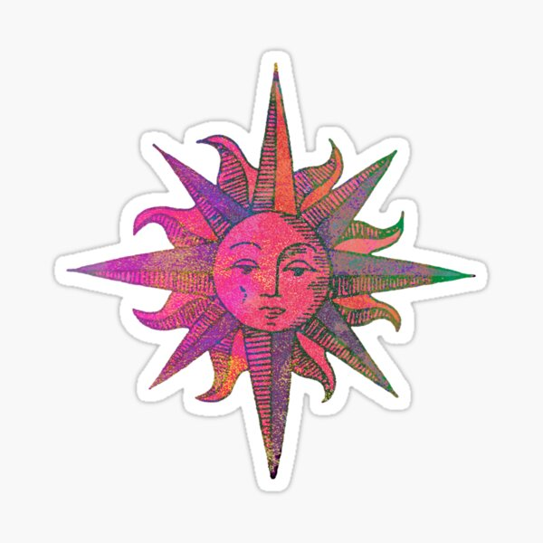 Pink Sun Sticker