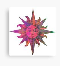 Pink Sun Canvas Print