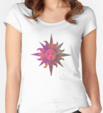 Pink Sun Women's Fitted Scoop T-Shirt
