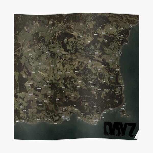 DayZ Map Poster