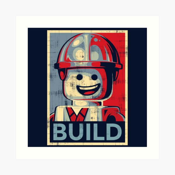 Picture Poster Gaming Man Cave Art Evolution of the Lego Man Framed Print