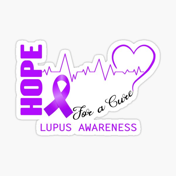 Hope For A Cure Lupus Awareness Sticker