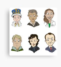 bbc sherlock cast Canvas Print