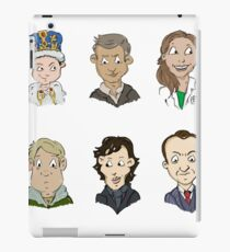 bbc sherlock cast iPad Case/Skin