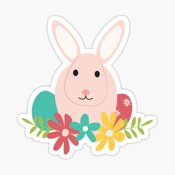 Happy Bunnies for Easter Sticker