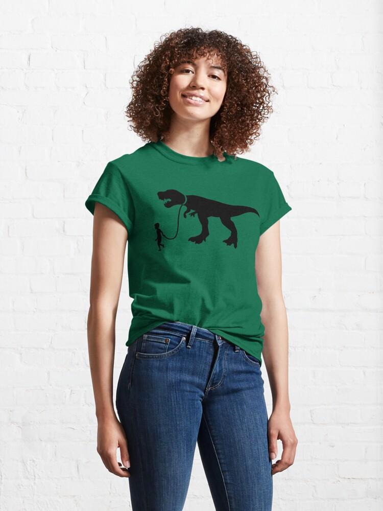 Alternate view of Walk the Dinosaur Silhouette Tyrannosaurus rex Classic T-Shirt