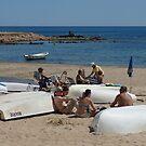 Beach Boats by Janone