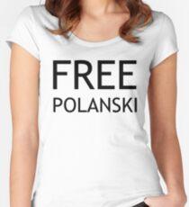 FREE POLANSKI (BLACK) Women's Fitted Scoop T-Shirt